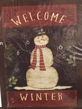 Welcome Winter Snowman Garden Flag