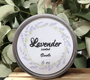 6 oz Tin Candle Lavender